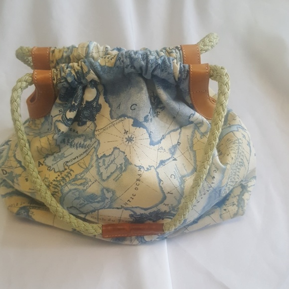 Fossil bags canvas world map purse poshmark fossil canvas world map purse gumiabroncs Choice Image